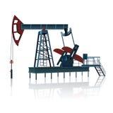 Schaukeln für Öl auf einer Metallplattform Stockbild