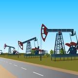 Schaukeln für Öl auf einer Metallplattform Stockfoto