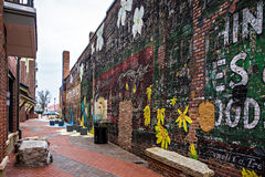 Schaukeln Sie Februar 2017 Hügel USA - Straßenbilder auf einem bewölkten Tag-arou Lizenzfreie Stockbilder