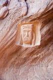 Schaukeln Sie Malerei in der Wüste von Wadi Rum in Jordanien Lizenzfreies Stockfoto