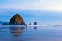 Schaukeln Sie mit Spiegelreflexion im Wasser des Pazifischen Ozeans Lizenzfreies Stockbild
