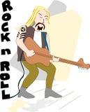 Gitarren-Mann Stockfotografie