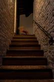 Schaukelpferd auf der Treppe Stockfotografie