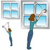 Schaum-Band-Fenster Lizenzfreie Stockbilder