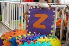 Schaumalphabet-Puzzlespielstücke, Z Stockfoto