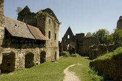 Schaumburg城堡废墟 免版税库存图片