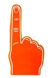 Schaumfanfinger auf einem weißen Hintergrund Lizenzfreies Stockbild