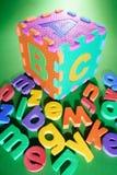 Schaumgummi-Alphabete stockbild