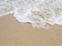 Schaumgummi auf Sand Stockfoto