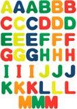 Schaumgummi bezeichnet A bis M mit Buchstaben Lizenzfreies Stockfoto