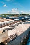 Schaumgummi in den Abwasserentwässerungen Lizenzfreies Stockfoto