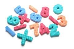 Schaumgummi-Zahlen stockbild