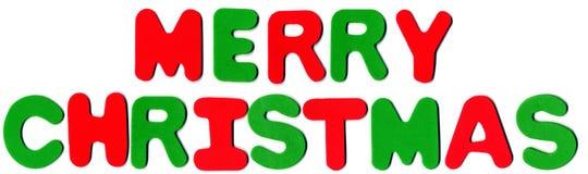 Schaumgummi-Zahlen - frohe Weihnachten lizenzfreies stockbild