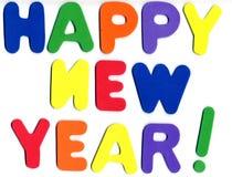 Schaumgummi-Zahlen - glückliches neues Jahr lizenzfreie stockfotos