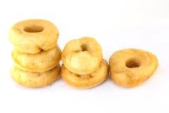 Schaumgummiringe oder Donut lokalisiert Stockfotos