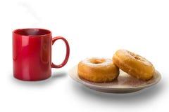 Schaumgummiringe und Kaffee Stockfotografie