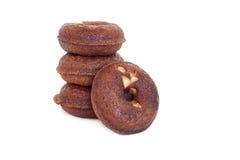 Schaumgummiringschokolade lizenzfreie stockfotos