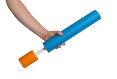 Schaumwasserzylinder-Rohrspielzeug stockbild