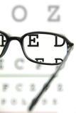 Schauspiele auf einem Augendiagramm lizenzfreie stockbilder
