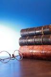 Schauspiele und Bücher Stockbilder
