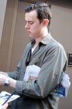 Schauspieler Colin Knäuel auf Broadway lizenzfreies stockfoto