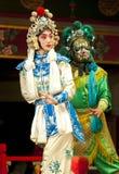 Schauspieler der Peking-Operen-Truppe Stockfotografie