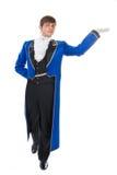 Schauspieler im Heckmantel. Stockfoto