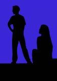 Schauspieler im Schattenbild Stockbild