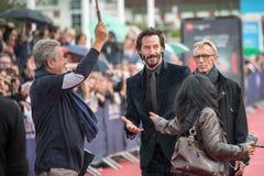 Schauspieler Keanu Reeves nimmt an der Schlag-Schlag-Premiere während des 41. amerikanischen Film-Festivals Deauvilles teil lizenzfreie stockfotografie