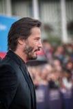 Schauspieler Keanu Reeves nimmt an der Schlag-Schlag-Premiere während des 41. amerikanischen Film-Festivals Deauvilles teil stockbilder