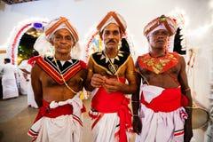 Schauspieler kleiden oben für Kandy Esala Perahera an Lizenzfreie Stockbilder