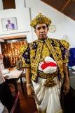 Schauspieler kleiden oben für Kandy Esala Perahera an Lizenzfreies Stockfoto