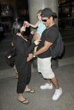 Schauspieler Mario Lopez wird an LOCKEREM mit Freundin gesehen stockbild