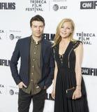 Schauspieler Noah Bean und Jennifer Westfeldt Arrive für Premiere am 17. Tribeca-Film-Festival lizenzfreie stockfotos