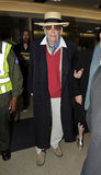 Schauspieler Peter O'Toole am LOCKEREN Flughafen lizenzfreie stockbilder