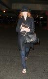 Schauspielerin Christina Hendricks wird an LOCKEREM gesehen stockfoto