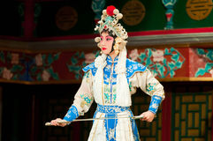 Schauspielerin der Peking-Operen-Truppe Lizenzfreie Stockfotos
