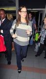 Schauspielerin Jennifer Garner am LOCKEREN Flughafen stockfotografie