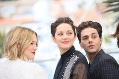 Schauspielerin Marion Cotillard, Xavier Dolan, Lea Seydoux Lizenzfreie Stockfotografie