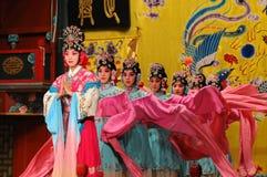 Schauspielerinnen der Peking-Operen-Truppe Lizenzfreies Stockbild