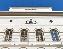 Schauspielhaus讲话的剧院大厦在格拉茨,奥地利 免版税库存图片