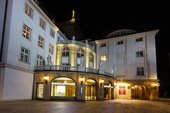 Schauspielhaus teatr przy nighttime Fotografia Royalty Free
