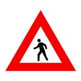 Schauzeichen für Fußgänger Lizenzfreies Stockbild