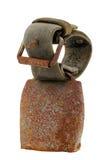 Schüchtern sehr rostige Alpen Glocke mit ursprünglichem Ledergürtel ein Lizenzfreies Stockbild