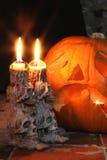 Schädel-Kerzenhalter Lizenzfreies Stockbild