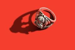 Schädel-Ring Stockbild