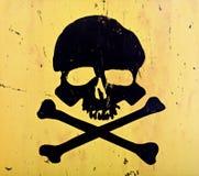 Schädel und gekreuzte Knochen Lizenzfreies Stockfoto