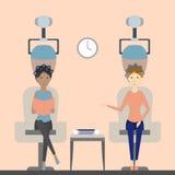 Sèche-cheveux dans le salon Image stock