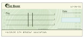 Scheckformularabbildung vektor abbildung