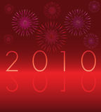 Scheda 2010 di nuovo anno Immagini Stock Libere da Diritti